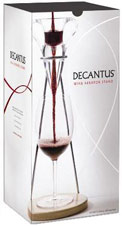 Decantus Tablestand, an innovative wine decanting system available from Valentinos International Wholesaling Inc, headquartered in Kelowna, British Columbia