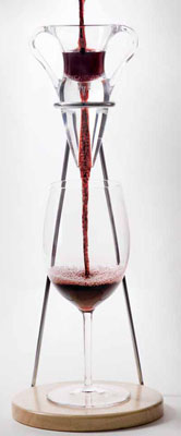 The Decantus wine aerator is available at many fine wineries and special wine stores.